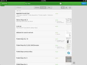 evernote search function